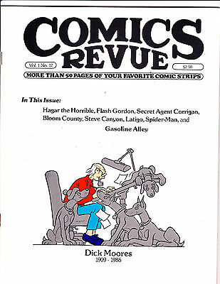 "Comics Revue Vol 1 No 17-1986-Strip Reprints- ""Dick Moores Memorial Cover!  """
