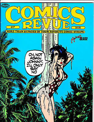"Comics Revue No 47-1990-Strip Reprints- ""Modesty Blaise Cover!  """