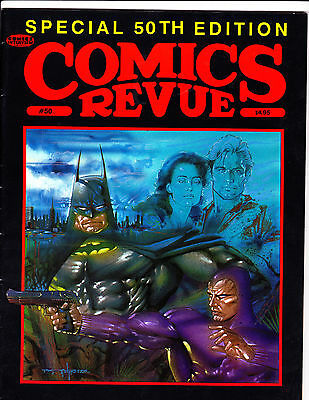 "Comics Revue No 50-1990-Strip Reprints- ""Special 50th Edition Cover!  """