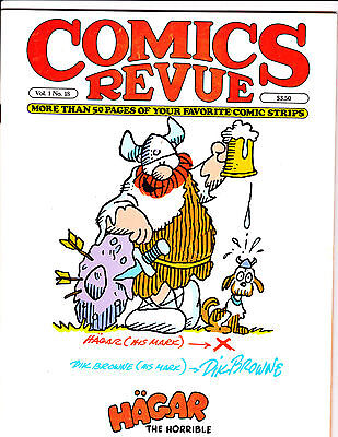 "Comics Revue Vol 1 No 18-1987-Strip Reprints- ""Hagar The Horrible Cover!  """