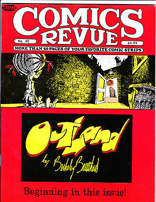 "Comics Revue Vol 1 No 40-1989-Strip Reprints- ""Outland Cover!  """