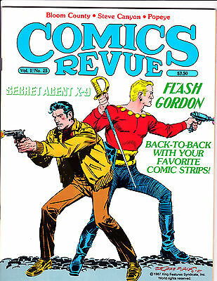 "Comics Revue Vol 1 No 25-1988-Strip Reprints- ""Flash Gordon /Agent X-9 Cover!  """