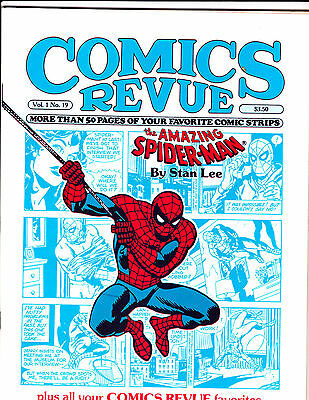 "Comics Revue Vol 1 No 19-1987-Strip Reprints- ""Amazing Spider-Man Cover!  """