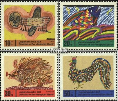 Berlin (West) 386-389 (complete issue) FDC 1971 Youth brands