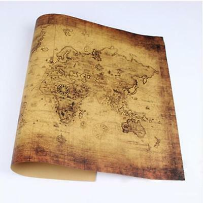 71*50CM Retro Globe Old World Map Matte Brown Paper Poster Home Decoration New