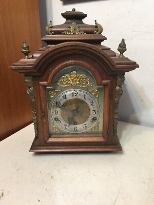 Antique German Westminster Mantle Clock Project Very Ornate Junghans?