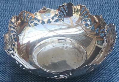 Pretty Sterling Silver Reticulated Sweet / Nut Bowl EJ Houston 1920