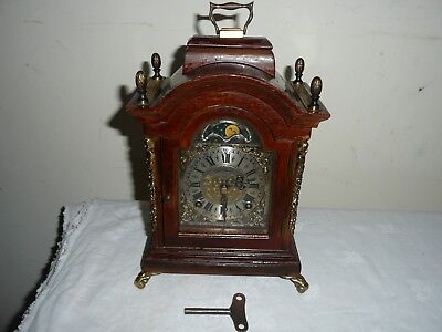 Vintage, Warmink Wuba, Moonphase, Ting Tang Bracket Clock, Great Condition.