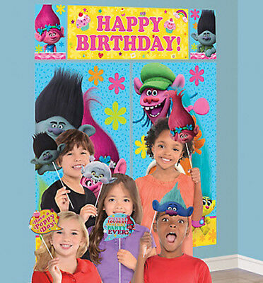 Incredibles Birthday Party Scene Setter Wall Decoration Kit Backdrop With Props