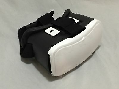ONN White Virtual Reality VR Smartphone Headset for iPhone, Samsung Apple & More