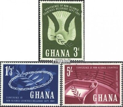 Ghana 103-105 (complete issue) unmounted mint / never hinged 1961 Countries-Conf
