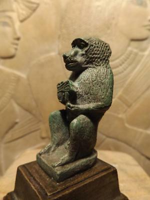 Egyptian Statue of Thoth - Museum replica - god of writing & wisdom, baboon form