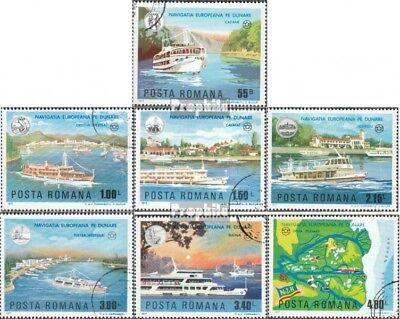 Romania 3484-3490 (complete issue) used 1977 Danube-Navigation