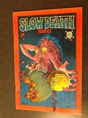 Slow Death Funnies #1 (1970, Last Gasp) by Crumb, Irons, & others. 1st Printing.