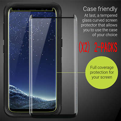 2x For Samsung Galaxy S9 Plus 3D Full Cover Tempered Glass Screen Protector