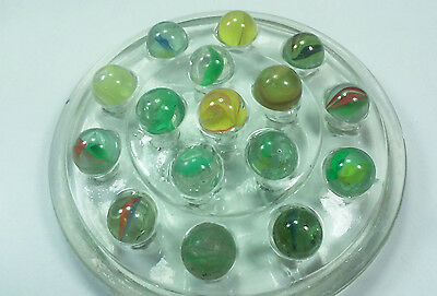 Lot Of 15 Vintage American Machine And Hand Made Cats Eye Marbles