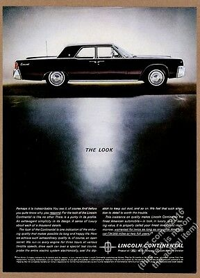 1962 Lincoln Continental black car photo The Look vintage print ad