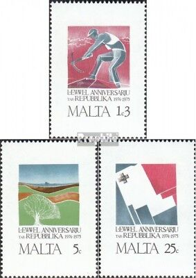 Malta 521-523 (complete issue) unmounted mint / never hinged 1975 1 Year Republi