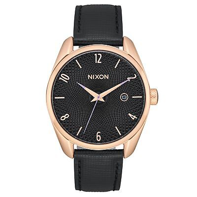 Nixon Bullet Leather Femme Montre - Rose Gold Black Une Taille
