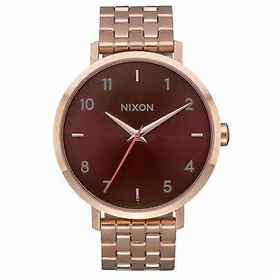 Nixon Arrow Femme Montre - All Rose Gold Brown Une Taille