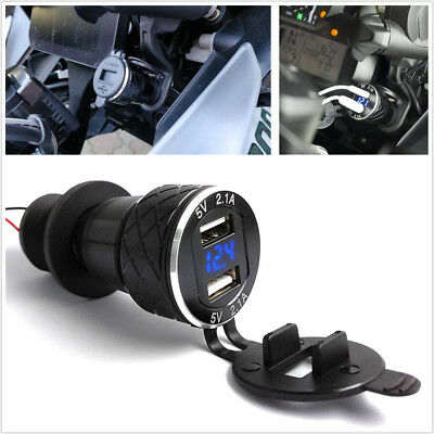 4.2A Motorcycle Dual USB Charger For BMW F800GS F650GS F700GS R1200GS Moto Plug