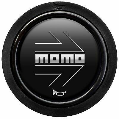 Momo Replacement Steering Wheel Horn Push Button - Standard Fitment - Black