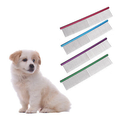 Stainless Steel Pet Puppy Dog Cat l Comb Long Hair Shedding Grooming Flea Comb