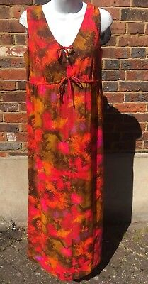 Bright 60s Maxi Dress size 16