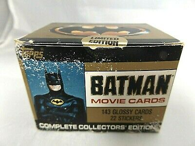 Topps 1989 2nd Series Batman Movie Cards 143 Cards & 22 Stickers