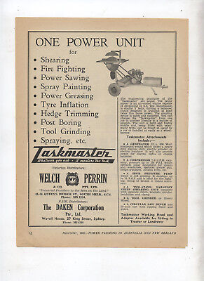 Taskmaster Advertisement removed from 1951 Farming Magazine Farm Equipment