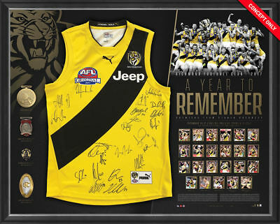 Richmond 2017 Afl Premiers Team Hand Signed Grand Final Jumper Martin Cotchin