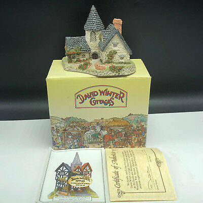DAVID WINTER COTTAGE VICARAGE vintage 1985 figurine house village Hine nib box