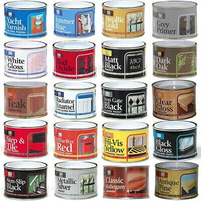 180ml Paint Tin Tub Gloss Matte Varnish Multi-Purpose Car Home Metal Wood Brick