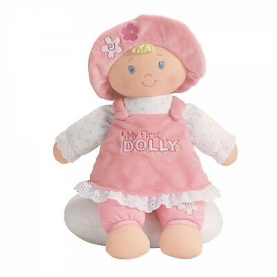"My First Doll Blonde Baby GUND 13""/33cm soft toy rag doll NEW"