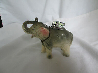 1964 GOP Amico Elephant Ceramic Figurine With Lighter Japan Vintage Collectible