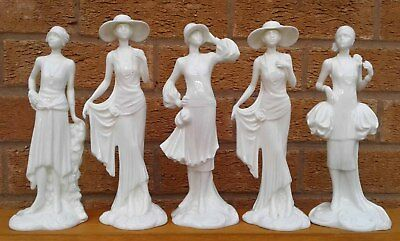 ROYAL WORCESTER - THE 1920's VOGUE COLLECTION - SELECTION OF FIGURINES.