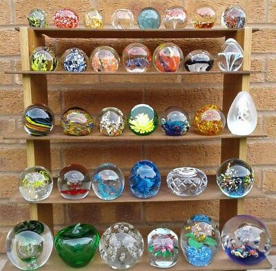 Selection Of Assorted Glass Paperweights.     (155)