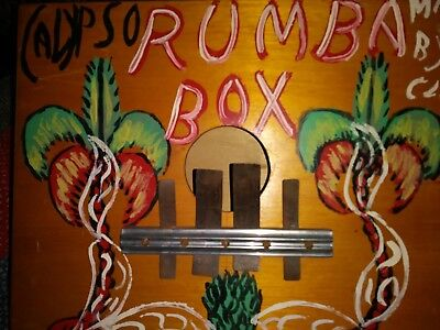 Vtg 1960's(?) Calypso/Rumba Box-Signed by Maker-Jamaica, BWI-Flowers-Tourist Mod