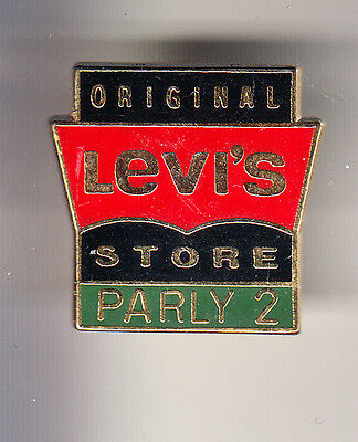 Rare Pins Pin's .. Mode Fashion Jeans Levi Strauss Levis Levi's Parly 2 Shop ~Ch