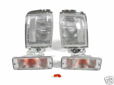 DEPO Clear Corner + Bumper Signal Lights For 1987-1988 Toyota Pickup Truck 4WD