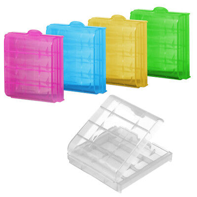 5 x Hard Plastic Case Holder Storage Box Cover for Rechargeable AA AAA Batteries