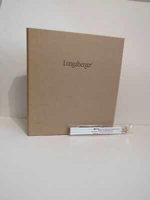 Longaberger Kraft Paper 3-Ring Binder, Set of 6 Notepads & PA Pencils