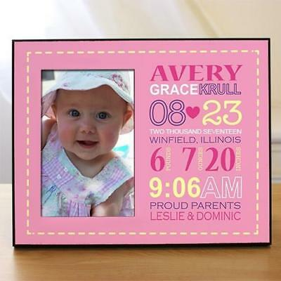 Personalized Baby Girl Birth Announcement Picture Frame New Baby
