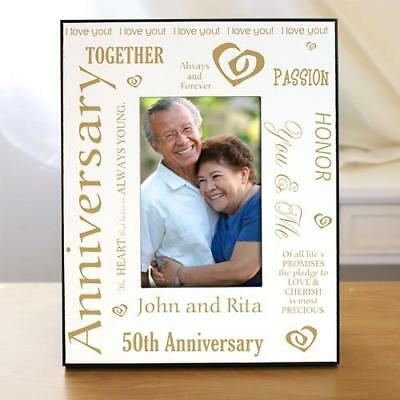 Personalized 50th Wedding Anniversary Picture Frame Gold Anniversary