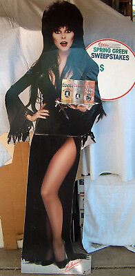 """RARE 1987 Elvira 70"""" Official Authentic Coors Light Co. Standee Cardboard Cutout"""