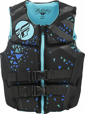 Womens Neoprene Lifejacket Teal/Black X-Small Fly Racing 142424-500-810-18