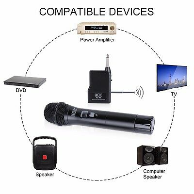 TONOR Professional Wireless Microphone VHF Wireless Handheld Microphone System