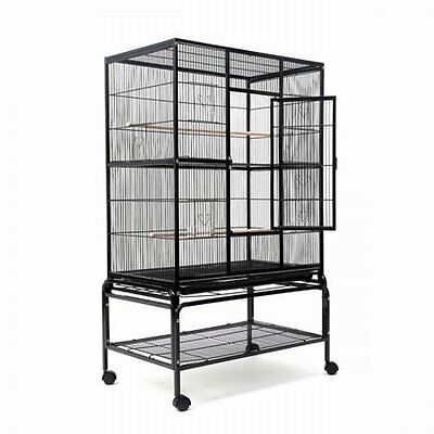 NEW 140cm Lockable Door Stand-alone Pet Parrot Aviary Budgie Perch Bird Cage