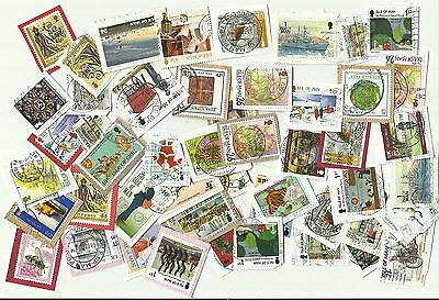 Isle of Man postage stamps x 49