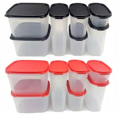 Tupperware Modular Mates Oval Square Pantry set of 7 Airtight Container